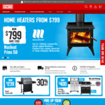Click Frenzy: up to 40% off Outdoor Furniture, Save up to $500 Home Heating & up to $100 Ziggy BBQs @ Barbeques Galore