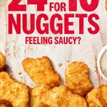 24 Chicken Nuggets & 4 Dipping Sauces for $10 @ KFC (Excludes Cairns)