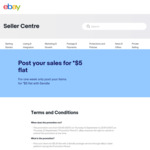 Post Your Sales for $5 Flat with Sendle using eBay Label Platform @ eBay