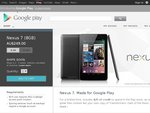 Bonus $25 Google Play Credit with Google Nexus 7 Tablet (from $249+Shipping)