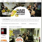 20% off for New Clients at HAIR MASTERS (Campbelltown, SA). Any Hair or Beauty Service!