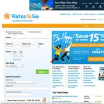 Save 15% on Hotels Worldwide booked in any Currency