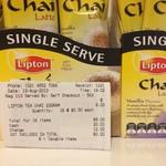 Lipton Chai Latte (Original and Vanilla) 2 for $1 @ Coles