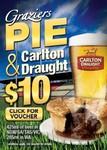 Voucher: Graziers Pie & Carlton Draught $10 at 142 Venues in VIC, WA, NSW, SA & TAS
