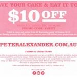 $10 off Peter Alexander. Min Spend $50 (Online/in-Store)