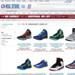 Nike, Jordan, Adidas, Reebok Shoes Additional 40% Off @ NBA Store