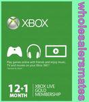 13 Months Xbox Live 12 +1 Month Membership Card Xbox 360 / One $39.96 via eBay (wholesalersmates)
