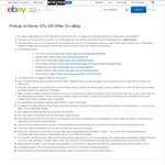 Selected eBay Retailers 10% off Click and Collect (Good Guys, DSE etc) (from Dec 15-22)