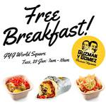 FREE Breakfast @ Guzman y Gomez World Square [Sydney CBD] Tuesday 20 January, 7am – 10am
