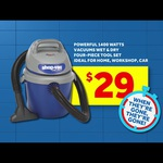 $29 Shop Vac 10L 1400w Wet/Dry Vacuum instore Only @ Masters Home Improvement (save $30)