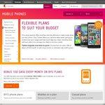 Bonus 1GB on Telstra BYO and No Lock in Plans (Total 3.5GB on $55 Plan etc.)