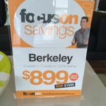 Berkeley Leather Lounge 3 + 2 Seater for $899 + $85 Delivery (RRP $1699) @ Focus On Furniture