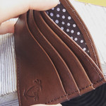 Slim Leather Wallet / Card Holder, $20 Free Shipping (Usually $29-$35) @ Palmera Apparel