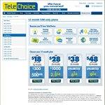 $28/2.5GB, $38/6GB, $48/9GB TeleChoice Bonus Data Offers
