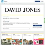 AmEx Statement Credit: David Jones Online (Spend $75+, Get $15)