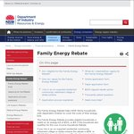 NSW Family Energy Rebate 2015/2016 up to $275