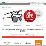 Specsavers 50% off The Price for 2 Pairs if You Buy One Pair of Glasses Only (Limited Range)