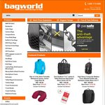 $5, $15 and $30 Coupon Codes at Bagworld.com.au (min spend $100)