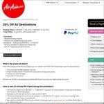 Melb Bali Return $162, Syd Bali Return $165 (20% off Fares) @ AirAsia