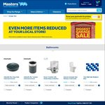 Masters 30% off Overstocks in Bathrooms, Lighting, Gardening, Decorating, Housewares and Hardware