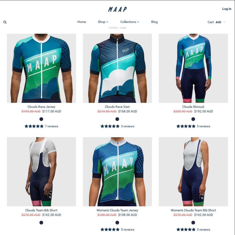 Up to 40% off a wide range of Maap Cycling Attire - OzBargain c2f3a5fc1