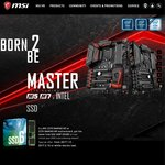 MSI Z270 Gaming 5 ($303.20) or 7 ($367.20) Motherboard @ Futu eBay - Free Intel 600P 256GB SSD ($129)
