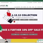 Further 10% Off Lacoste Online Sale
