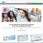 Specsavers - $50 off with Min $149 Spend on Contact Lenses + Free Standard Delivery