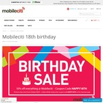 Mobileciti 18th Birthday 10% off Sitewide & $0 Shipping: S8 $1007, Moto G5+ 32/4 $403, Huawei Mate9 $826, iP7 128GB $1030 + More