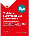 Vodafone $50 Multi-Fit Pre-Paid Starter Pack & $50 Nano Pre-Paid Starter Pack $5/Each @ Harvey Norman Free C&C