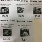 PS4 1TB $399 Bundles COD WW2 or GT SPORTS or Destiny 2 or FIFA 18, PS4 1TB SWBF2 Limited Ed $429 @ Big W