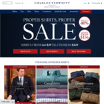 Charles Tyrwhitt - Extra 10% off Sale - Shirts from $35.10, Suits from $314.10 (min. spend $225)