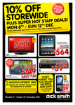 Dick Smith/Woolworths Staff Card Discounts at Dick Smith, 6 to 12 December 2010 (PDF)