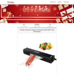 Win a $50 Amazon Gift Card or a Vacuum Sealer from Ymiko