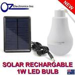 Solar Rechargable 1W LED Light - Clearance Sale - $2 Each + $8.45 Delivery @ oz_electronics_inc eBay