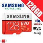 2 x Samsung 128GB EVO Plus Micro SD (2017 Model) - $107.78 Delivered @ apusexpress2 eBay