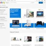 20% off Selected Microsoft Surface Books and Xbox @ Microsoft eBay Store