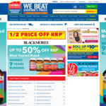 50% off Blackmores Supplements and Vitamins @ Chemist Warehouse