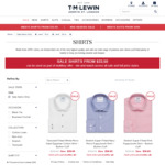 TM Lewin: 5 Shirts for $147.50 ($29.50 Ea with Promo Code) + FREE DELIVERY over $120