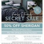Sheridan Friends and Family Sale - 50% off Storewide