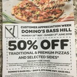 [NSW] 50% off Traditional / Premium Pizza and Selected Sides (Some Exclusions Apply) @ Domino's, Bass Hill