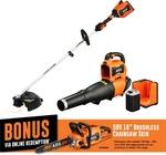 Redeem Bonus AEG 58V Chainsaw (Worth $299) When You Purchase a 58V Kit (e.g. Blower & Line Trimmer Combo $599) @ Bunnings