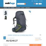 Osprey Atmos AG 50 Backpack (2018) for $204.60 Delivered (RRP $349) @ Webtogs