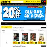 20% off Blu-Ray 4K, DVDs, CDs, Vinyl  + 5% Newsletter Discount (e.g. TV Shows Buy 2 Get 1 Free) @ JB Hi-Fi