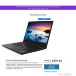 """ThinkPad Ryzen E485 (14"""" FHD IPS/Ryzen 5 2500U/8GB DDR4/128GB NVMe) $809.10, E585 (15.6"""" FHD) $854.10 @Lenovo AU (+10% ShopBack)"""