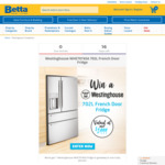 Win a Westinghouse 702L French Door Fridge Worth $2,699 from Betta