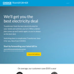"""Transformer"" Electricity Switching Service [Run by Choice] Potentially $99 a year"