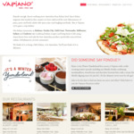 2 for 1 Pizzas, Pastas or Salads until 31 Aug or Free Drink with Every Pizza/Pasta Purchased on Father's Day Sep 2 @ Vapiano