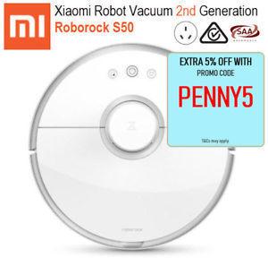 Xiaomi Roborock S50 Robot Vacuum Cleaner 2nd Gen feat  Sweep