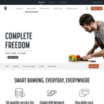 $75 Cashback When Opening a New Complete Freedom Account (Deposit $500 or $250* in 45 Days) @ Bank of Melbourne